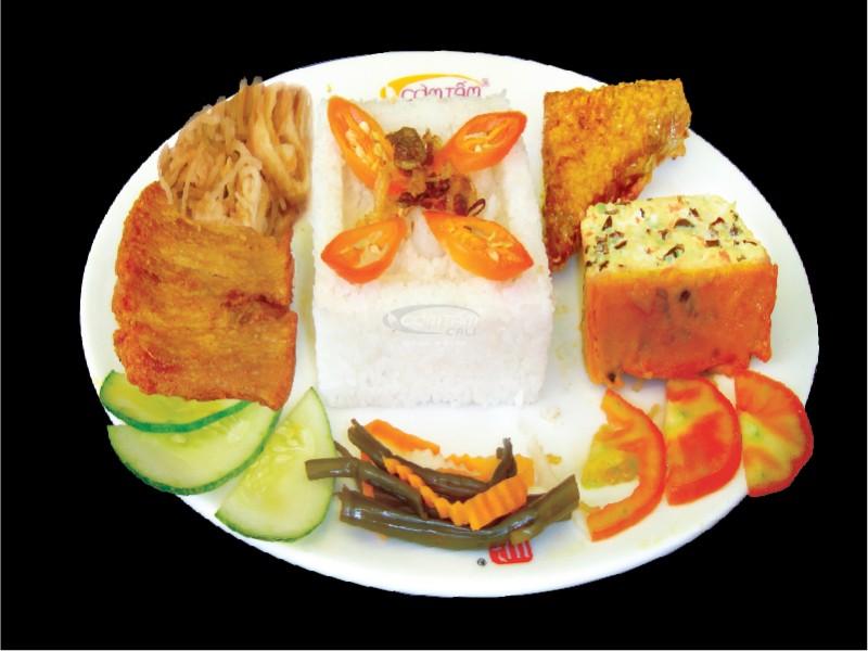 Cơm Tấm Cali Sườn Bì Chả & Tàu Hũ Ky Chay